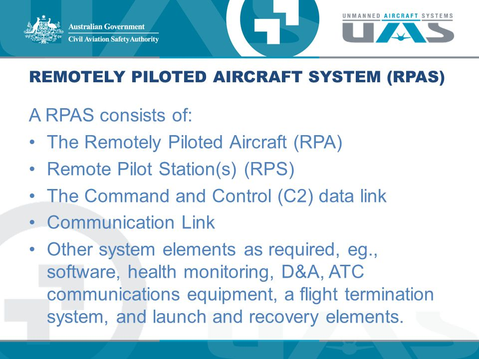 REMOTELY PILOTED AIRCRAFT SYSTEM (RPAS)