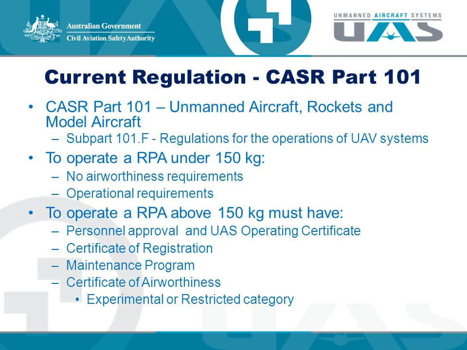 Current Regulation - CASR Part 101