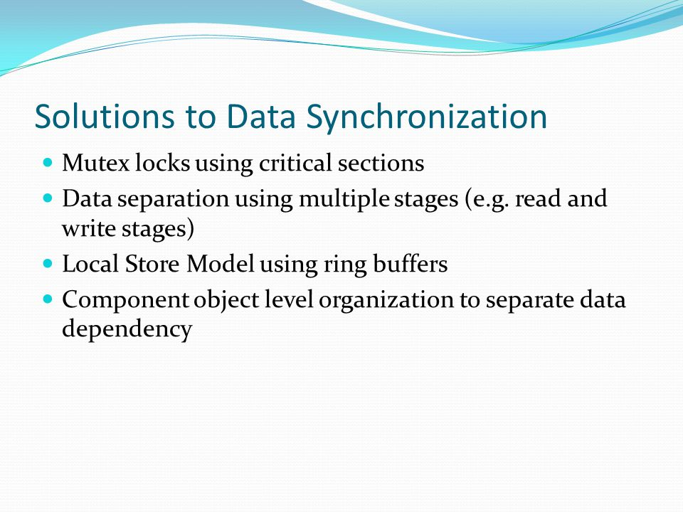 Solutions to Data Synchronization