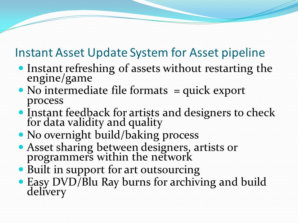 Instant Asset Update System for Asset pipeline