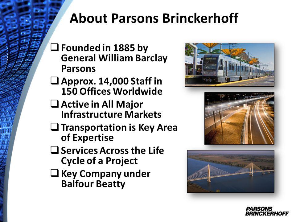 About Parsons Brinckerhoff