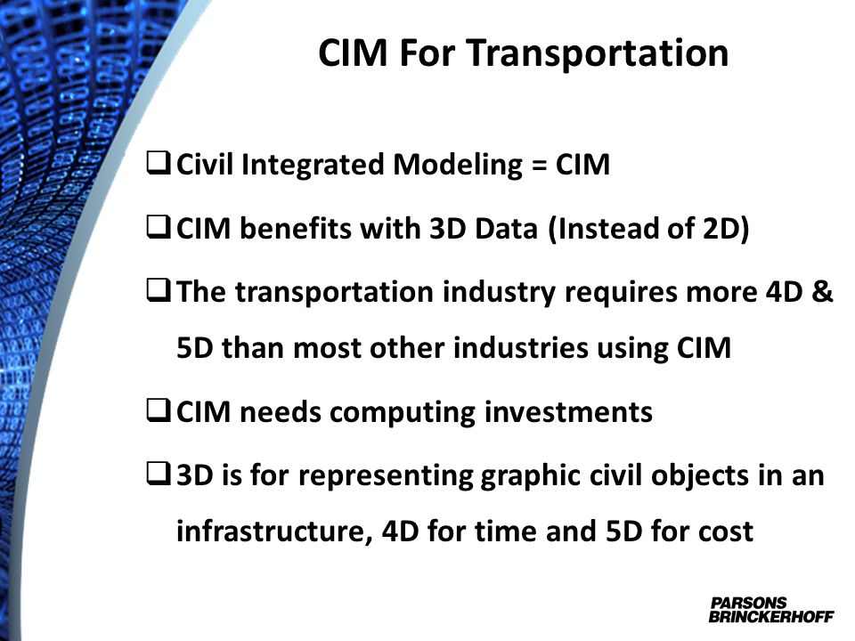 CIM For Transportation