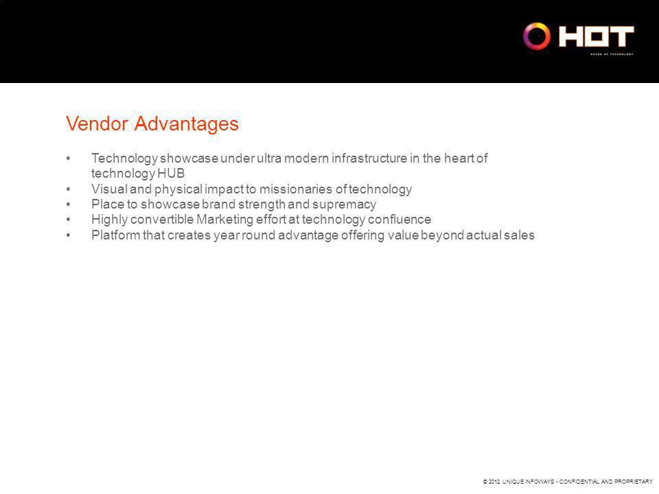 Vendor Advantages Technology showcase under ultra modern infrastructure in the heart of technology HUB.