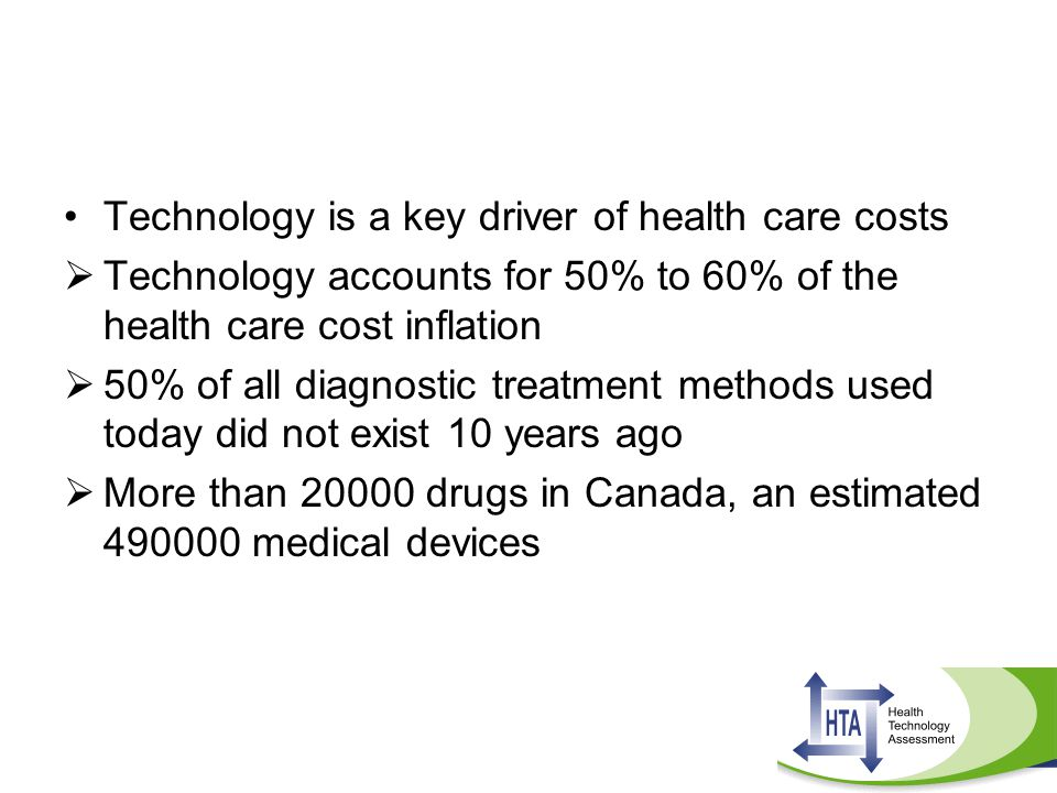 Technology is a key driver of health care costs