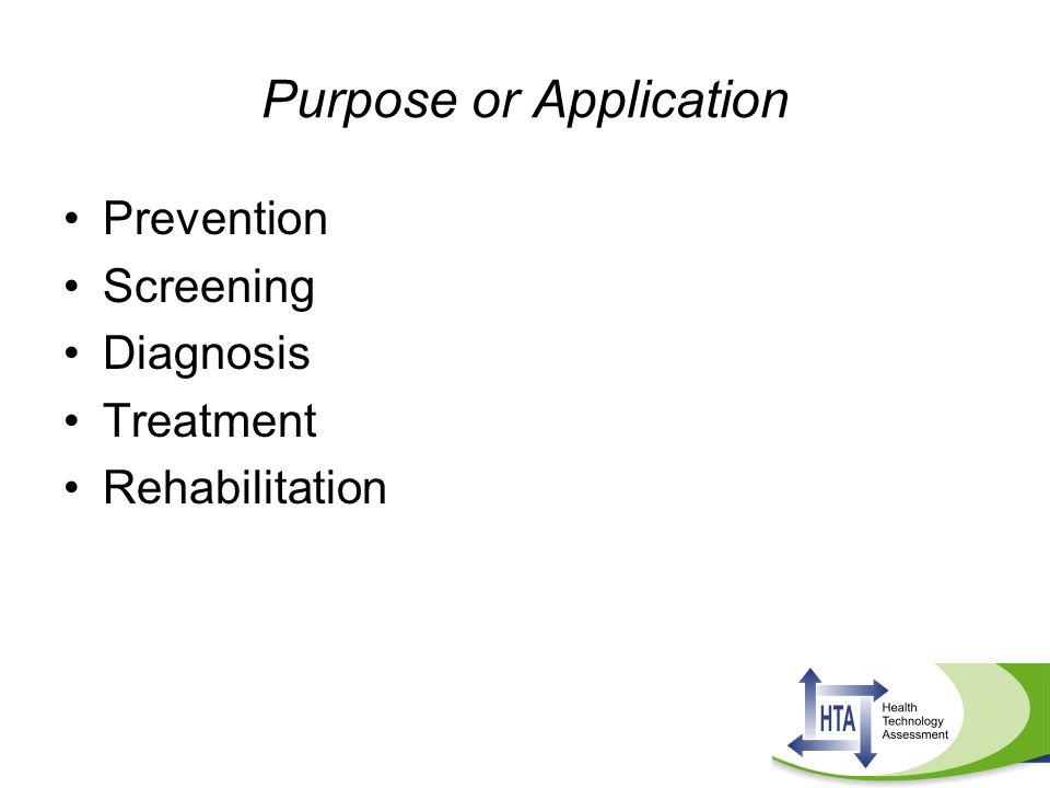 Purpose or Application