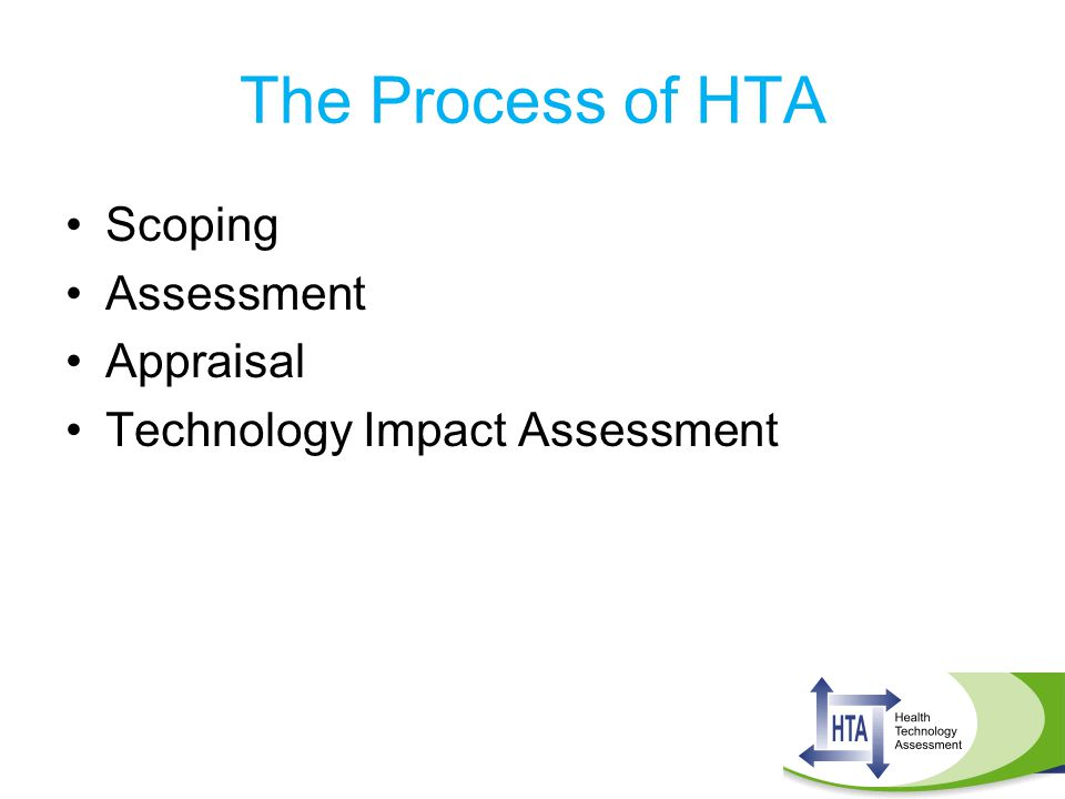 The Process of HTA Scoping Assessment Appraisal