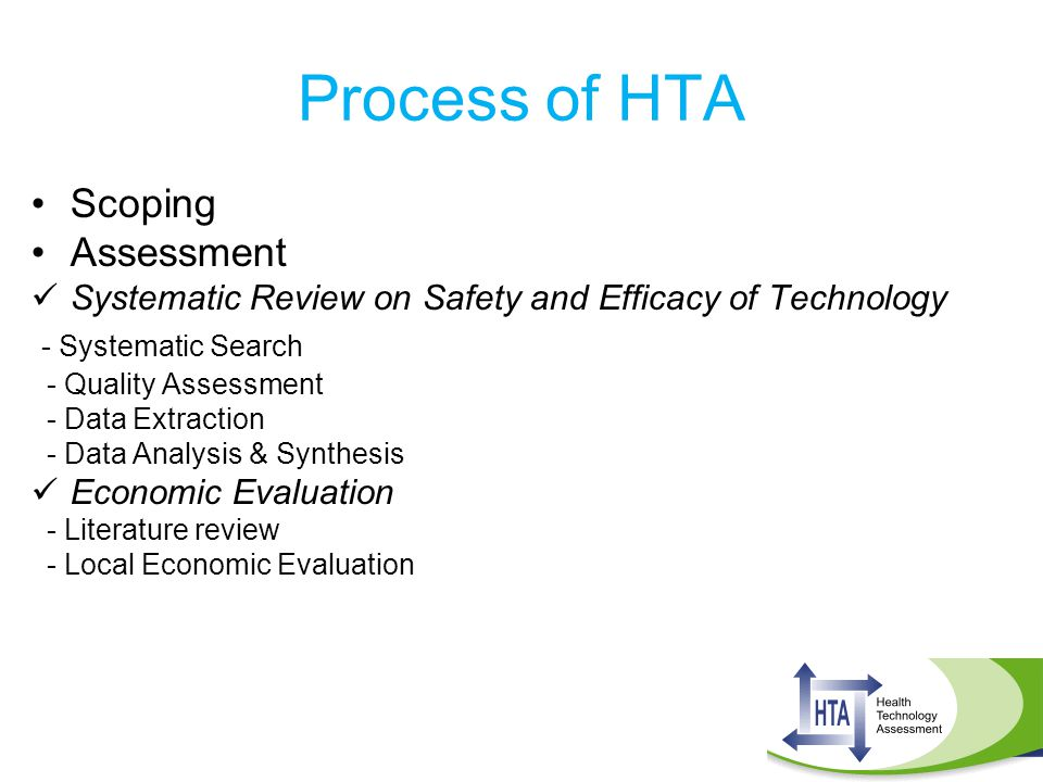Process of HTA Scoping Assessment - Systematic Search