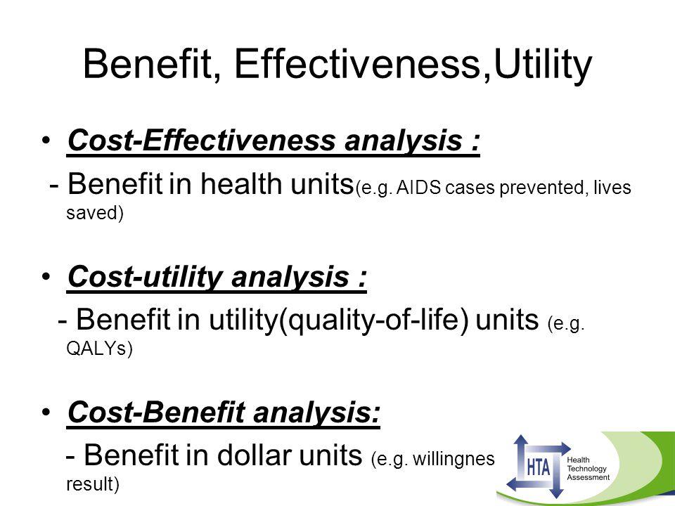 Benefit, Effectiveness,Utility