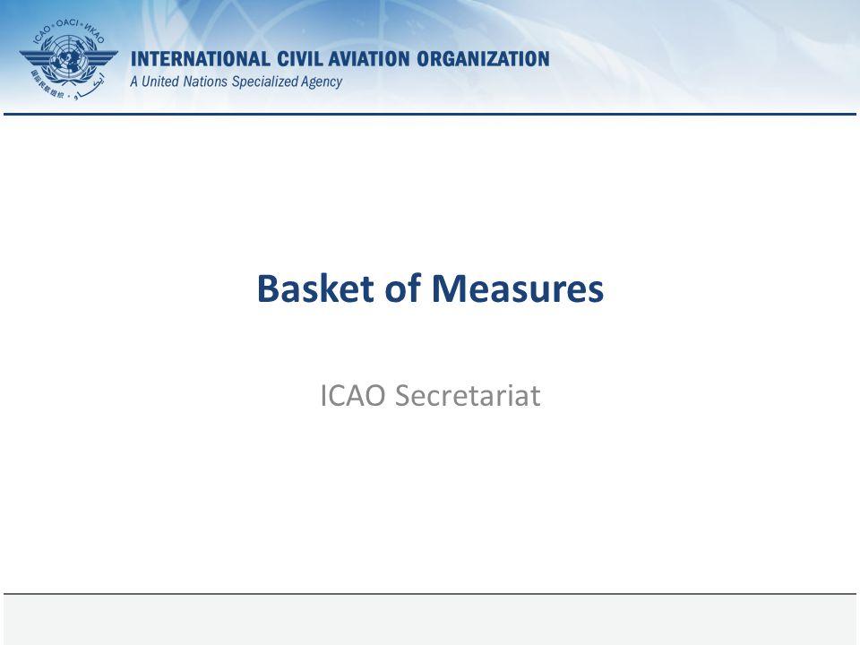 Basket of Measures ICAO Secretariat