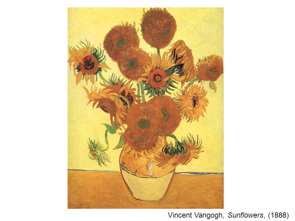 Vincent Vangogh, Sunflowers, (1888)