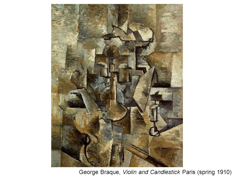 George Braque, Violin and Candlestick Paris (spring 1910)