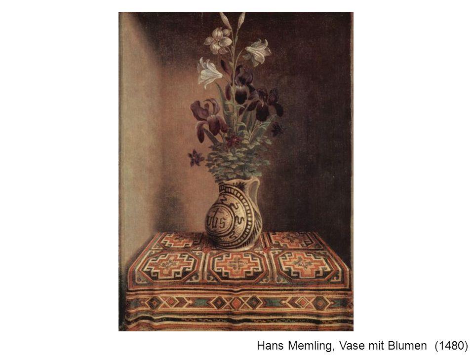 Hans Memling, Vase mit Blumen (1480)