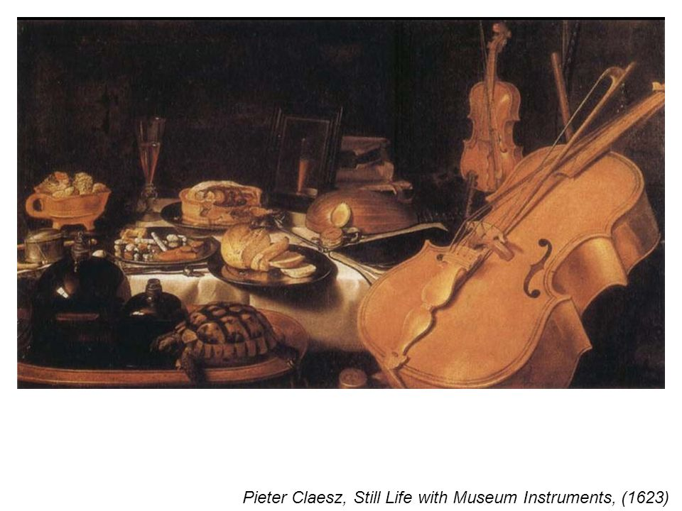 Pieter Claesz, Still Life with Museum Instruments, (1623)