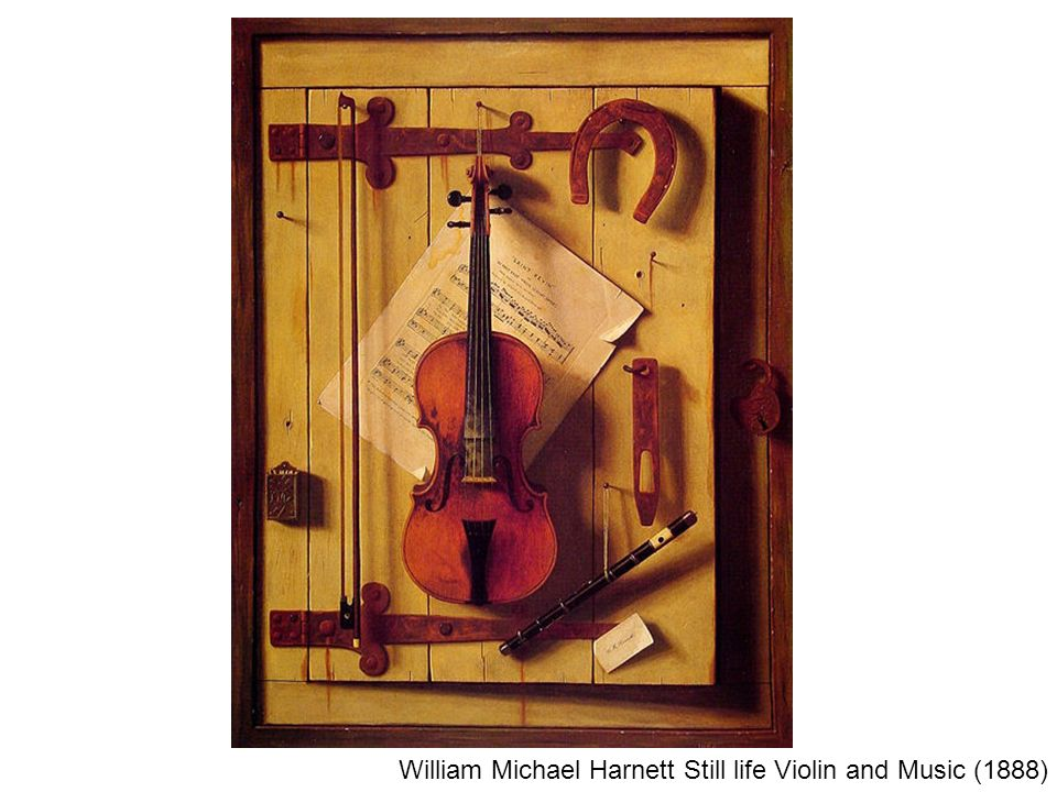William Michael Harnett Still life Violin and Music (1888)