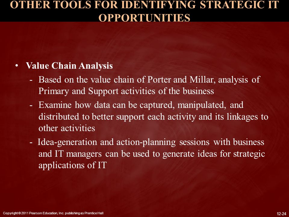OTHER TOOLS FOR IDENTIFYING STRATEGIC IT OPPORTUNITIES