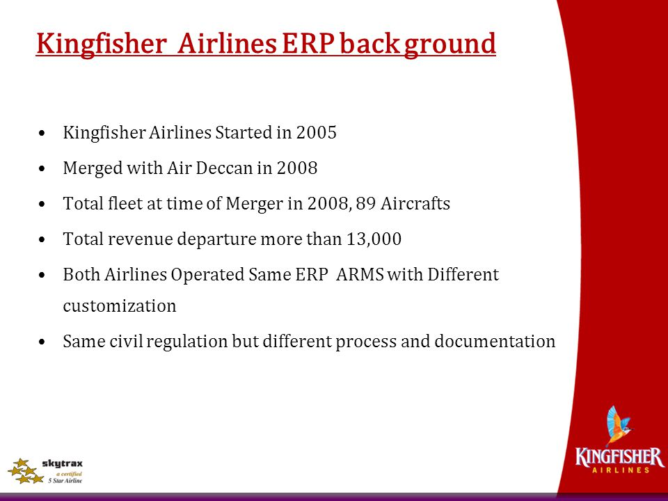 Kingfisher Airlines ERP back ground