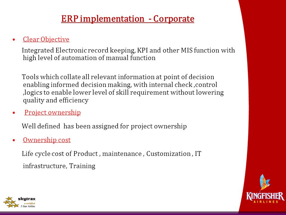 ERP implementation - Corporate