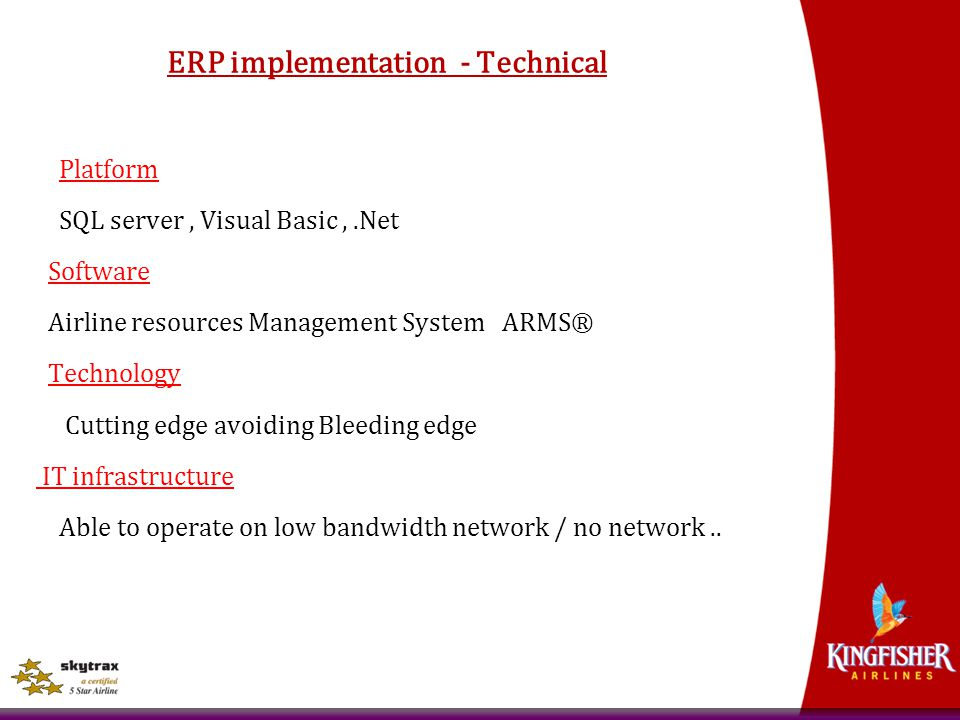 ERP implementation - Technical