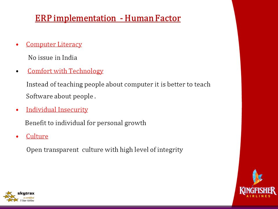 ERP implementation - Human Factor