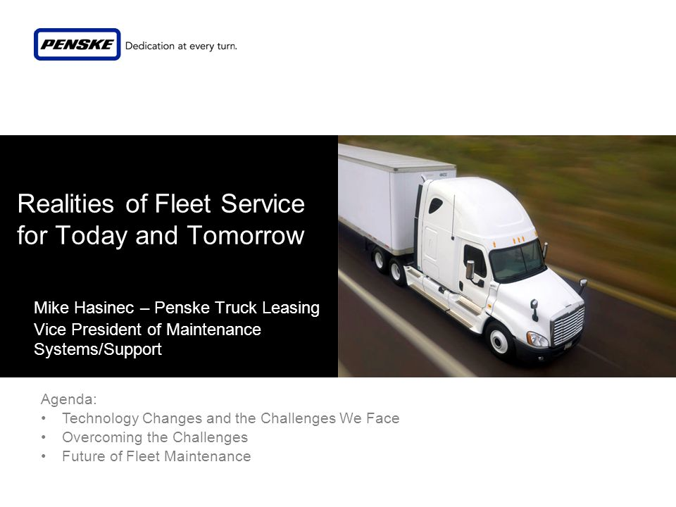 Realities of Fleet Service for Today and Tomorrow