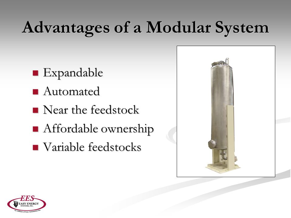 Advantages of a Modular System