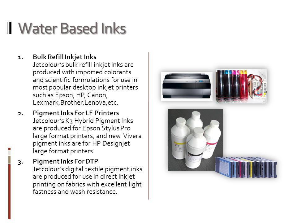 Water Based Inks