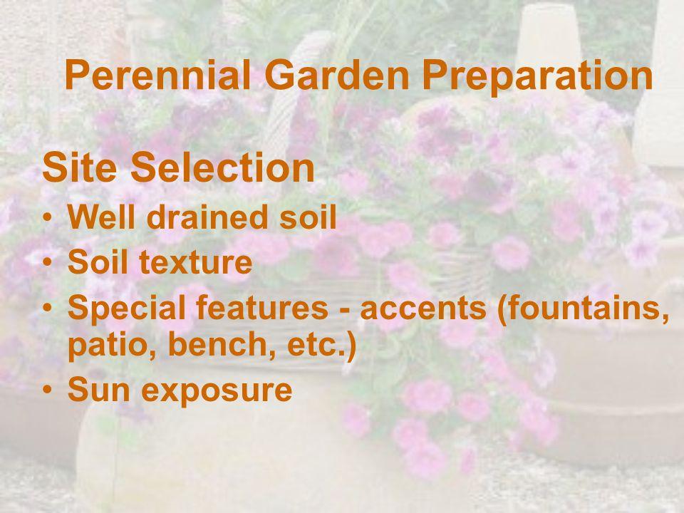 Perennial Garden Preparation
