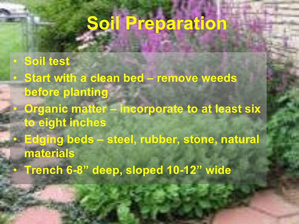 Soil Preparation Soil test