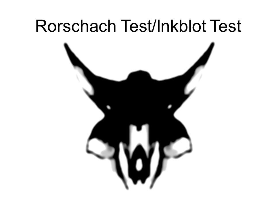 Rorschach Test/Inkblot Test