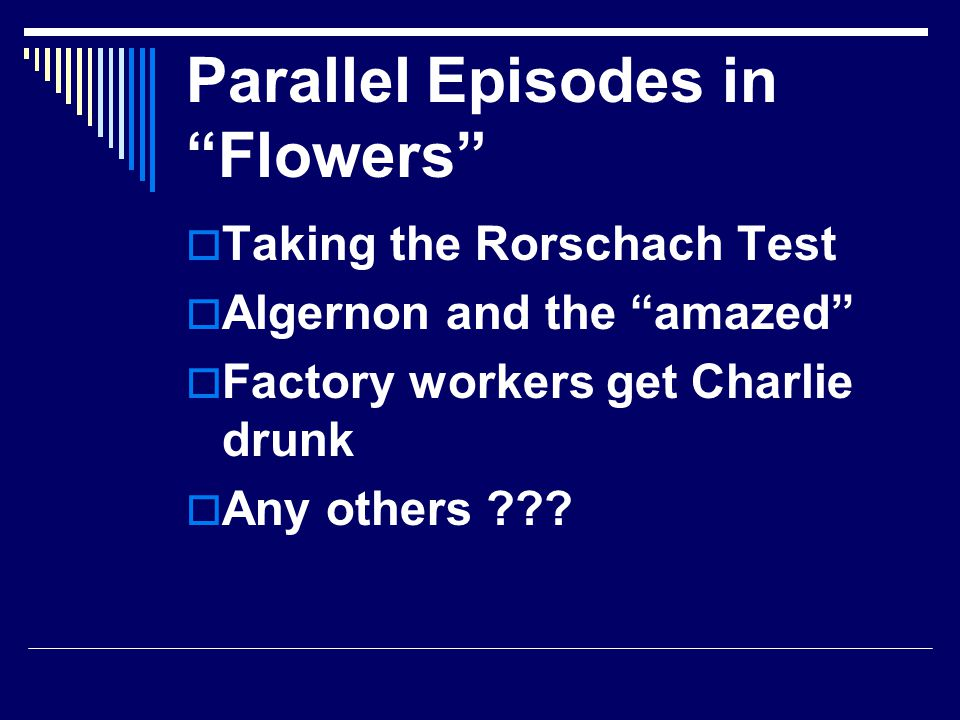 Parallel Episodes in Flowers