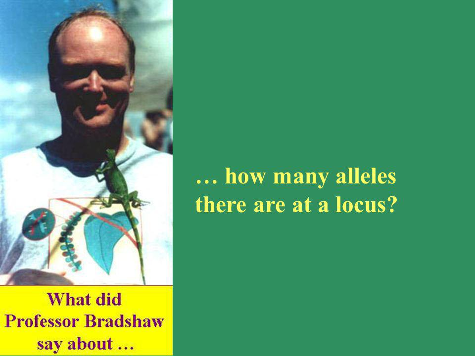 … how many alleles there are at a locus