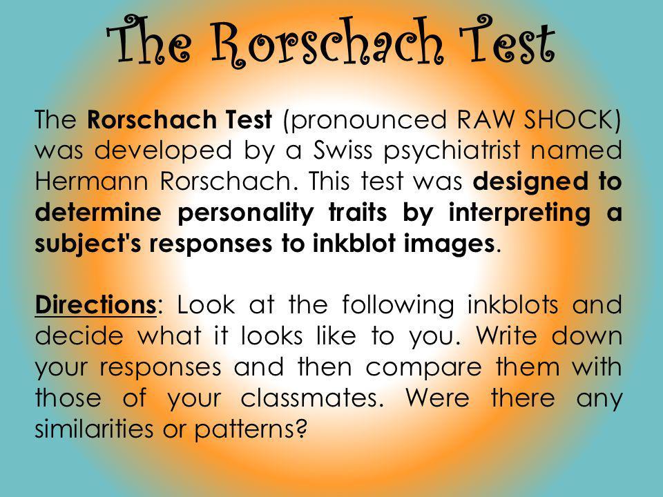 The Rorschach Test
