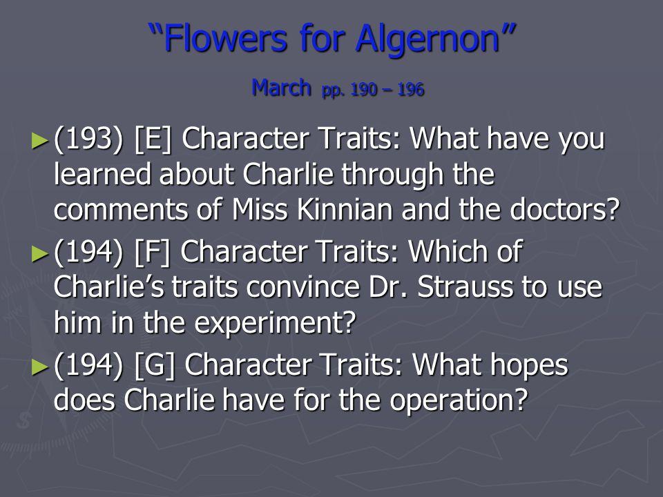 Flowers for Algernon March pp. 190 – 196