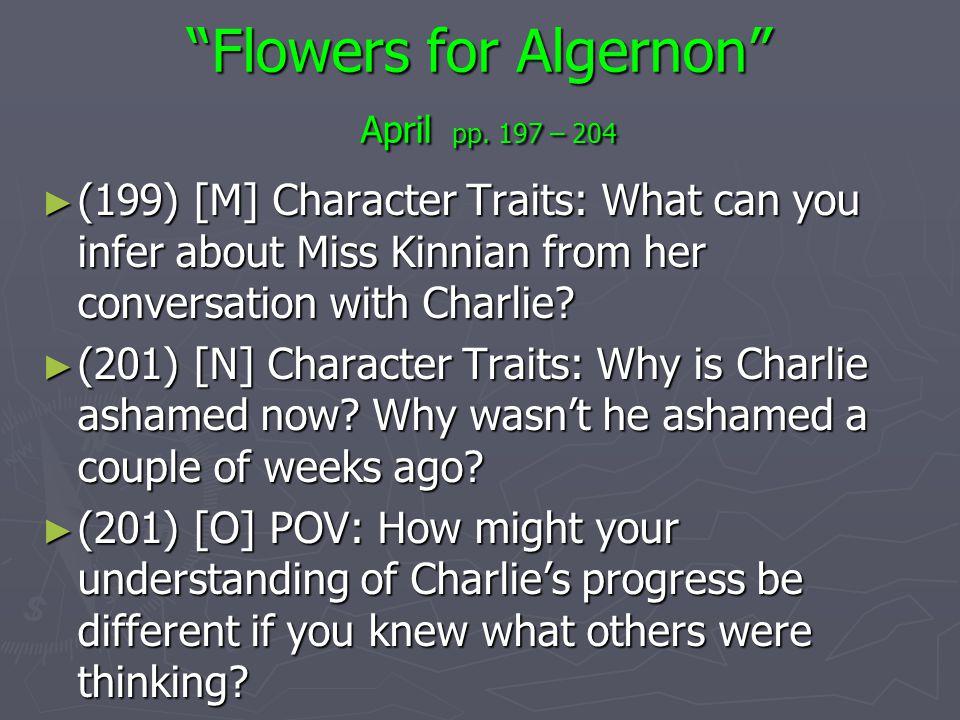 Flowers for Algernon April pp. 197 – 204
