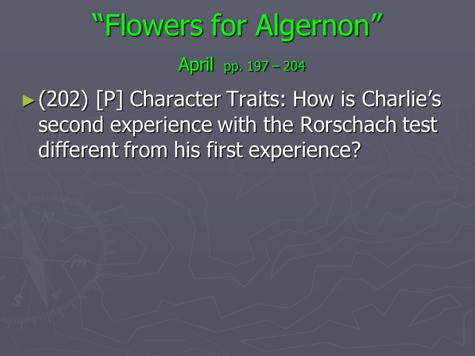 flowers for algernon thesis statement Download thesis statement on flowers for algernon in our database or order an original thesis paper that will be written by one of.
