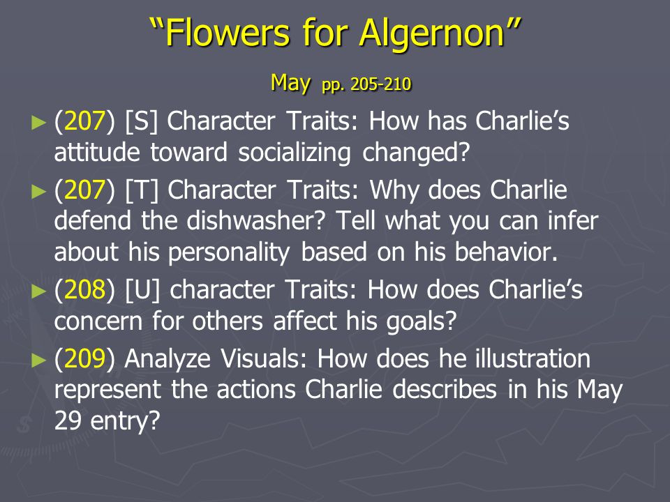 Flowers for Algernon May pp. 205-210