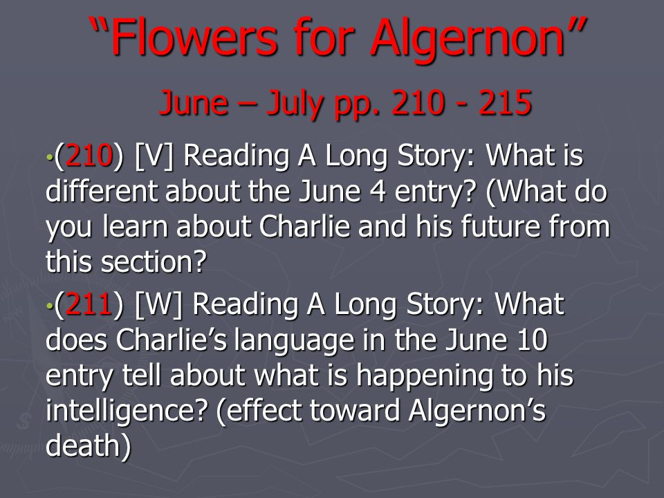 flowers for algernon comparing and contrasting Comparing contrasting essay samples english as second language maintenance  essay for flowers algernon short story child.