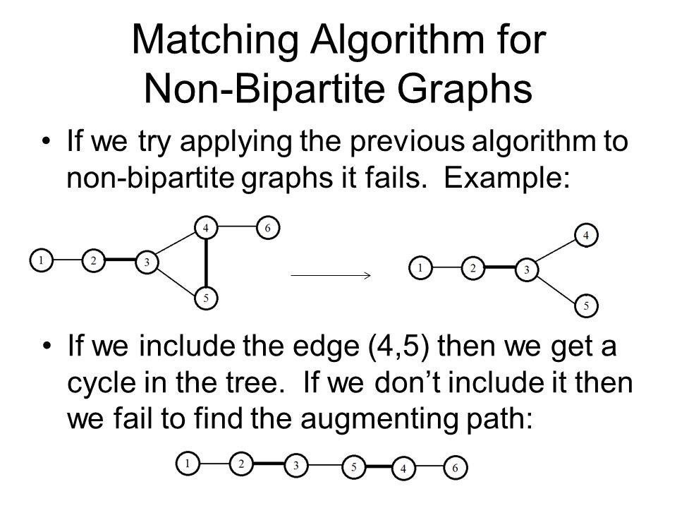 Matching Algorithm for Non-Bipartite Graphs