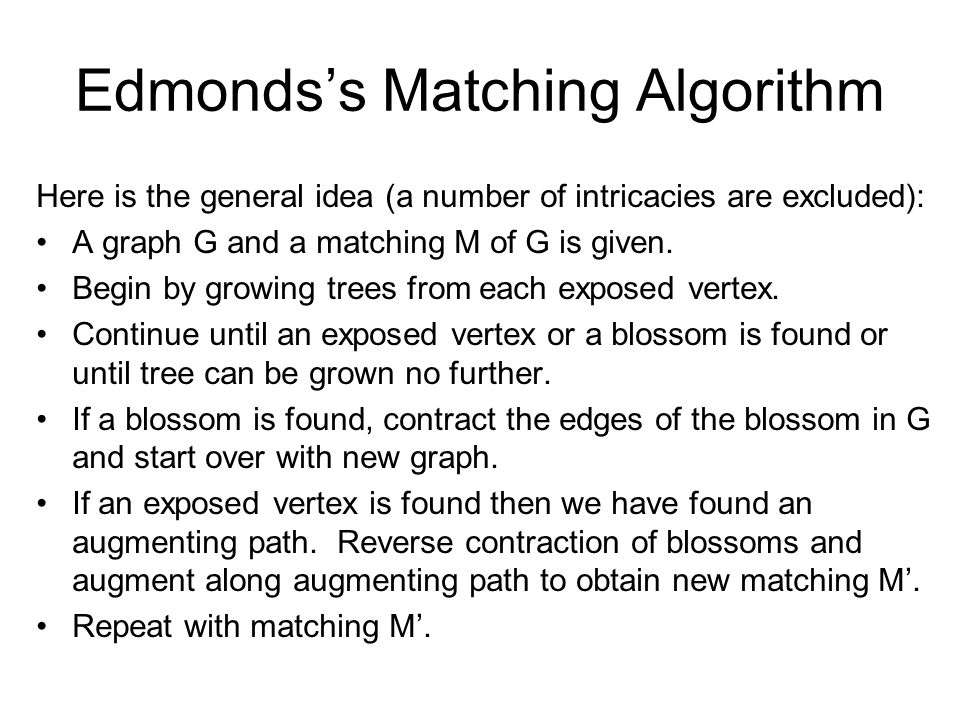 Edmonds's Matching Algorithm