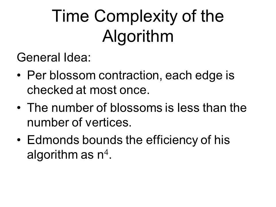 Time Complexity of the Algorithm