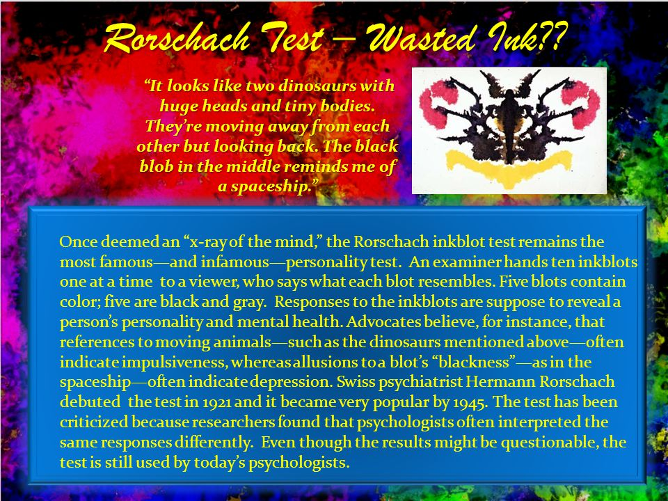 Rorschach Test – Wasted Ink