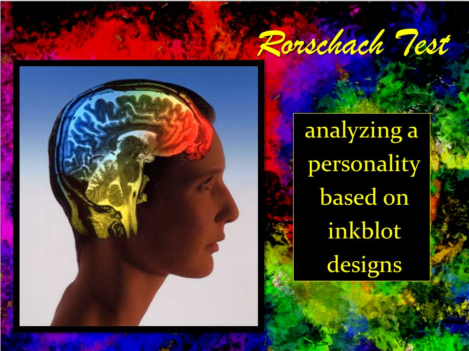 analyzing a personality based on inkblot designs