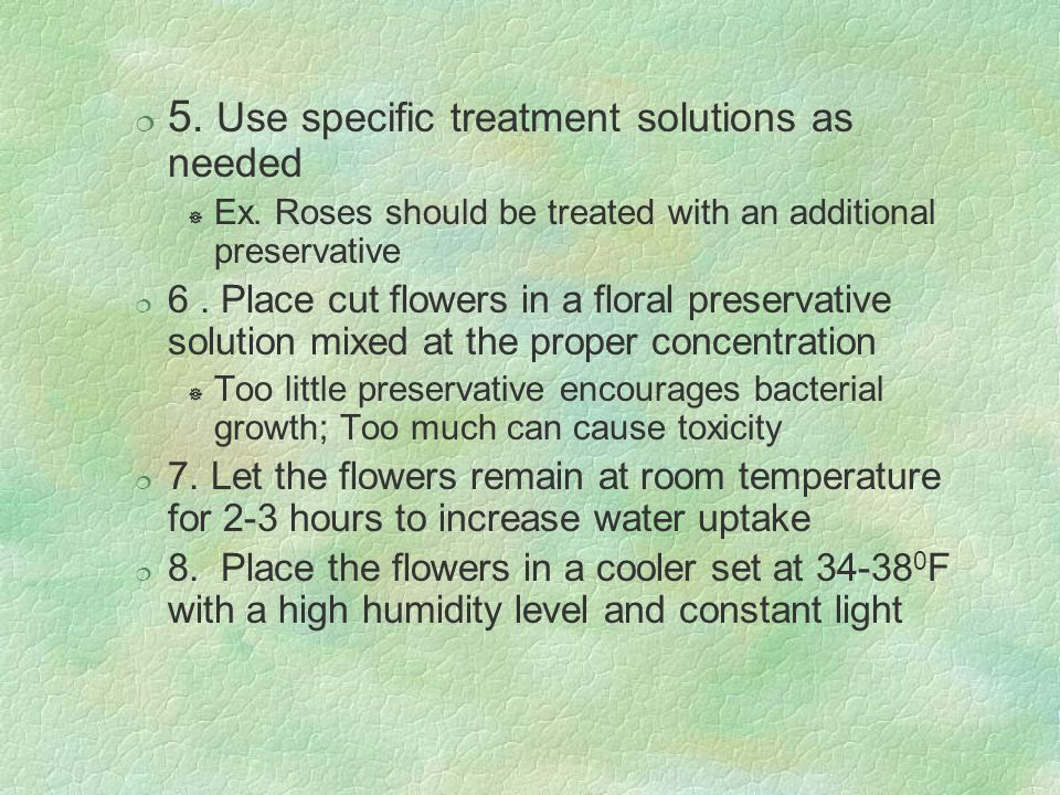 5. Use specific treatment solutions as needed