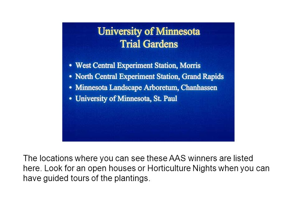 The locations where you can see these AAS winners are listed here