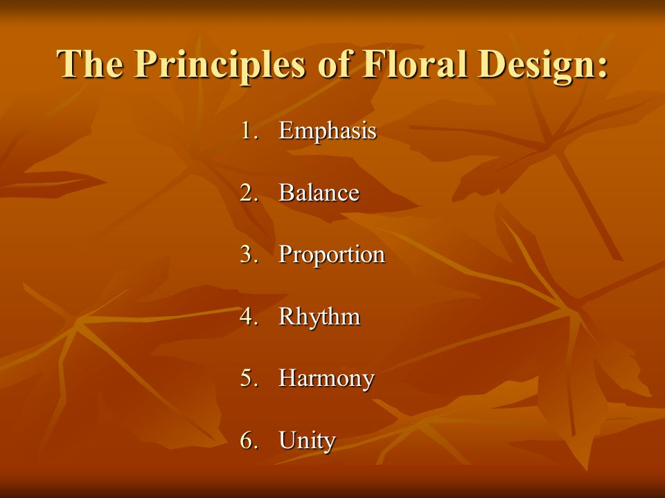 The Principles of Floral Design: