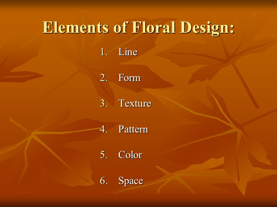 Elements of Floral Design: