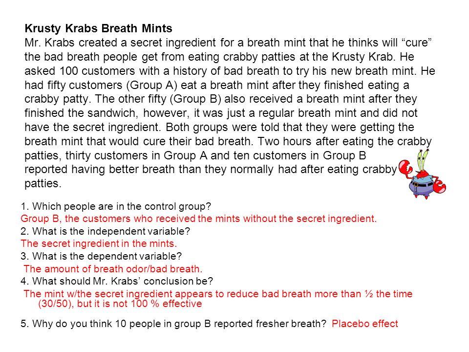 Krusty Krabs Breath Mints Mr