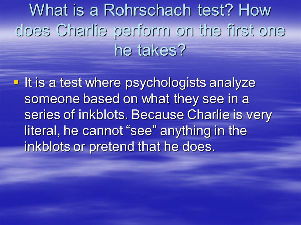What is a Rohrschach test