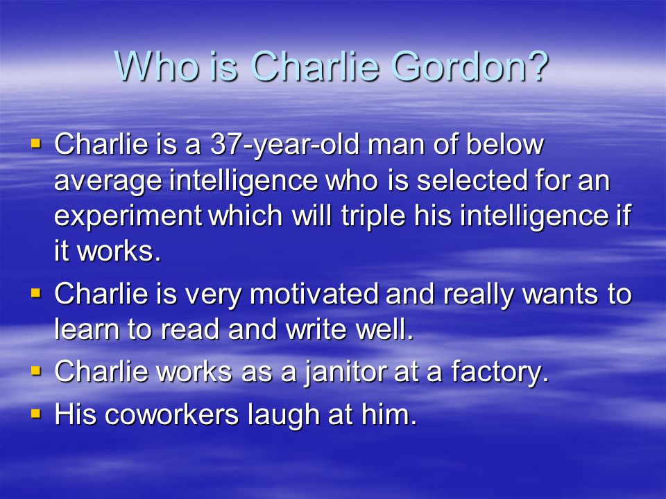 Who is Charlie Gordon