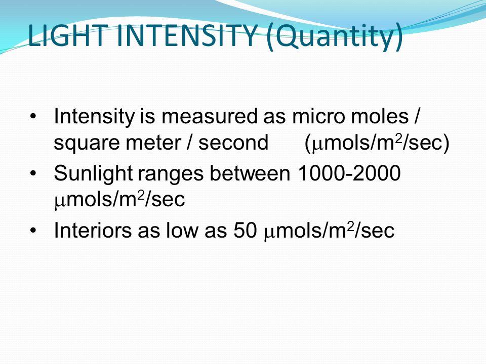 LIGHT INTENSITY (Quantity)